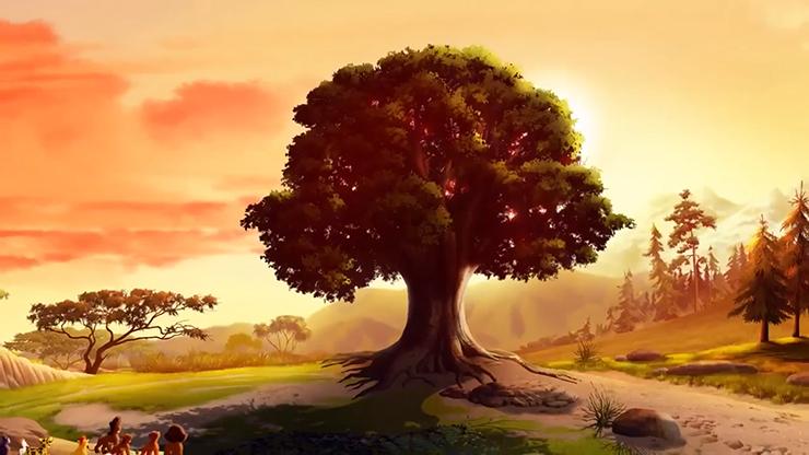 König Der Löwen Baum